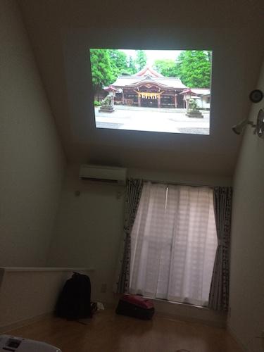 神社茶話会 天井へ投影